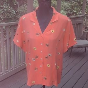 Size 16 New Casual Corner floral dress blouse
